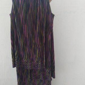 London Times Dress layered multi-colored Size 4